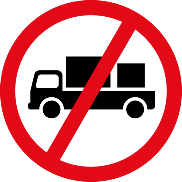 R228: Delivery Vehicles Prohibited Sign