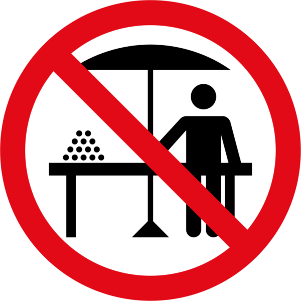 R241: Hawkers Prohibited Sign