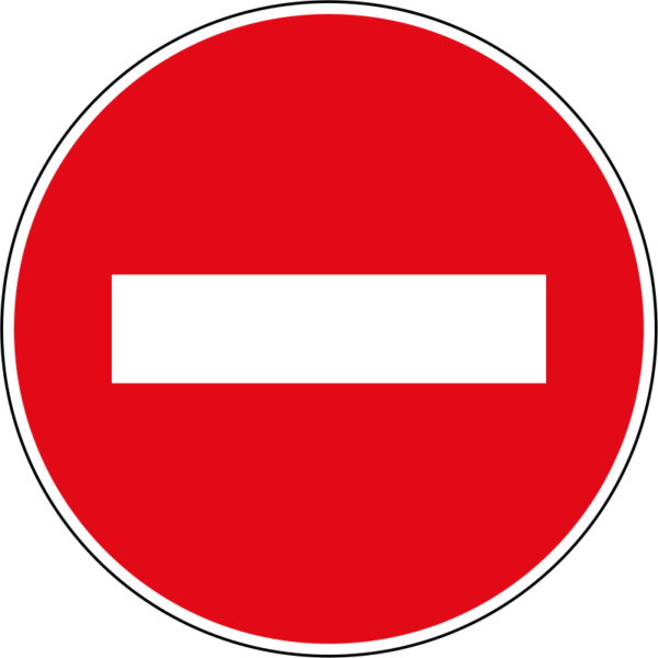 R3: No Entry Sign