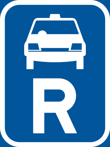 R309: Taxi Reservation Sign
