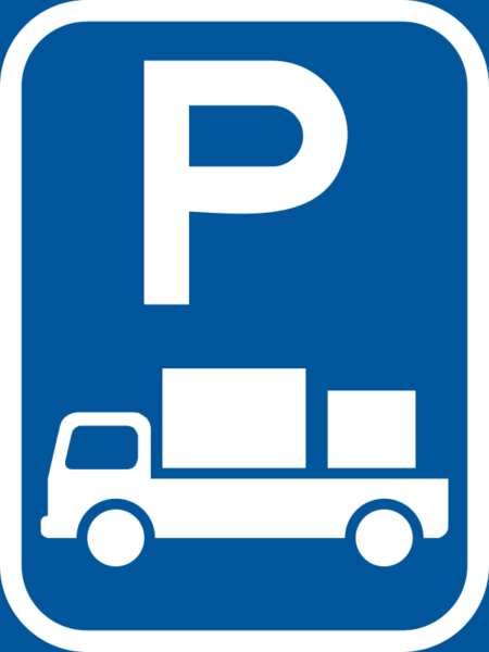 R312-P: Delivery Vehicle Parking Reservation Sign