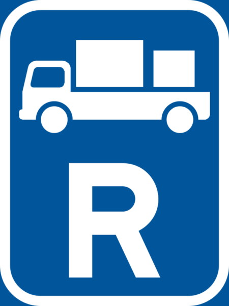 R312: Delivery Vehicle Reservation Sign