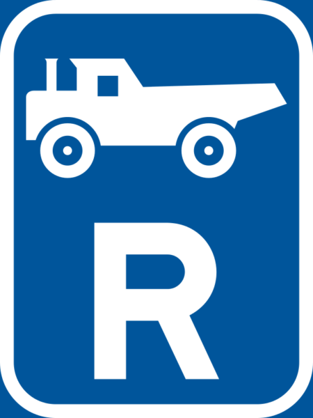 R315: Construction Vehicle Reservation Sign