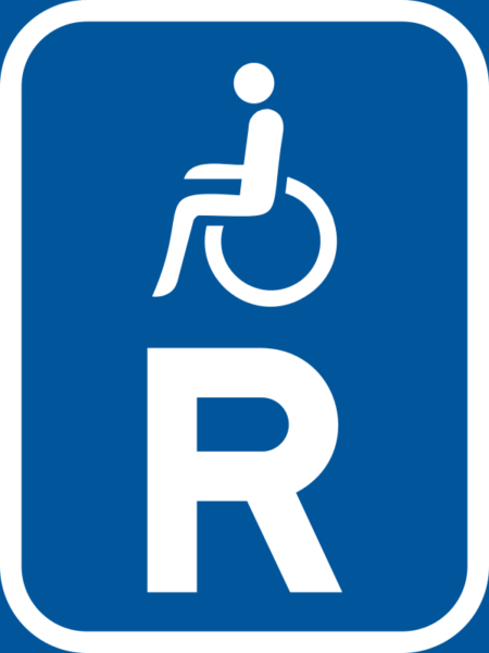 R323: Disabled Person Reservation Sign