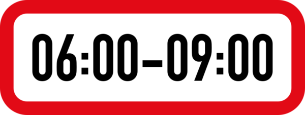 R501: One Period Time Limit Sign