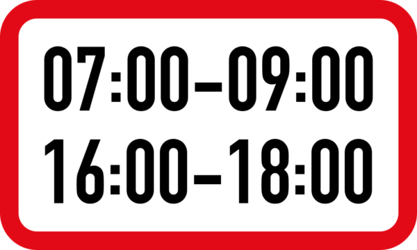 R502: Two Period Time Limit Sign