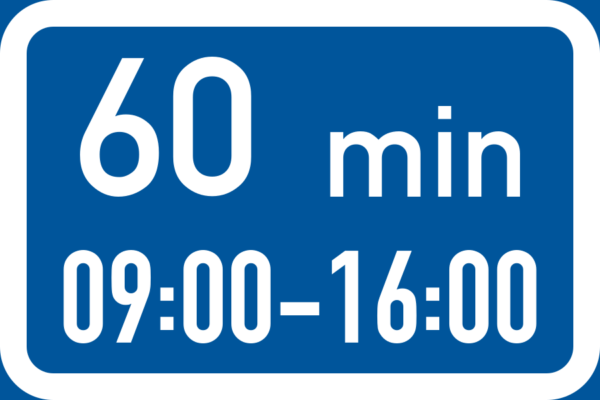 R506: Maximum Stay During One Period Or Days Time Limit Sign