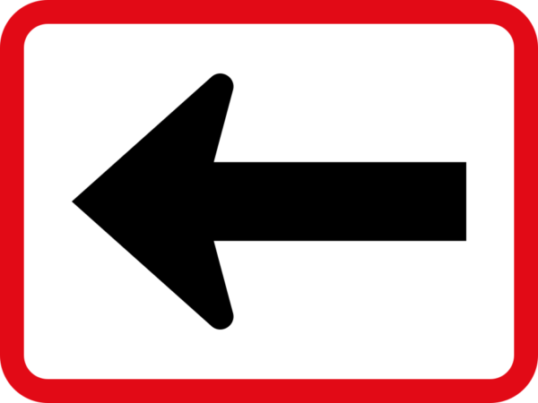 R520: Reserved Movement Left By Vehicle Class Sign