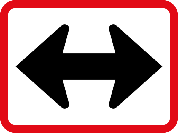 R522: Reserved Movement To Left & Right By Vehicle Class Sign