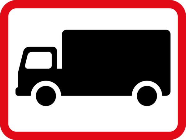 R568: Goods Vehicle Sign
