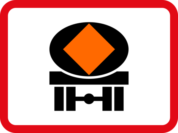R571: Vehicles Conveying Dangerous Goods Sign