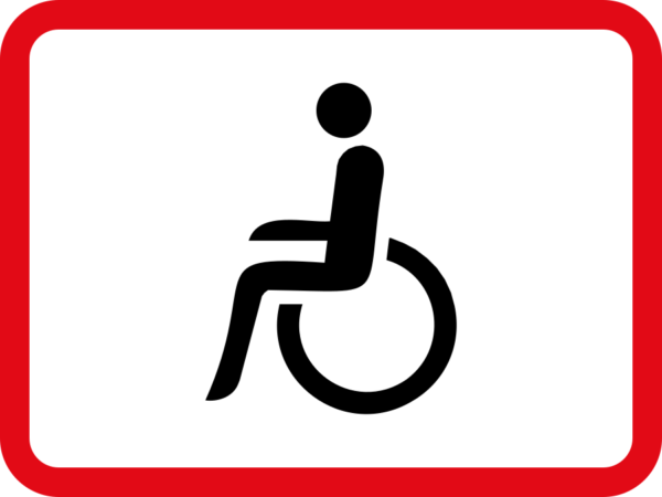 R578: Disabled Persons Vehicle Sign