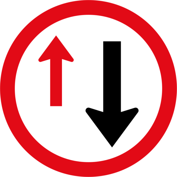 R6: Yield To Oncoming Traffic Sign