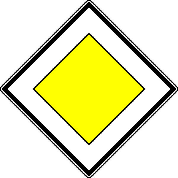 IN7: Right Of Way Sign