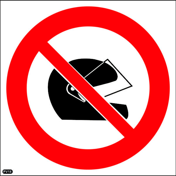 PV18: Wearing Of Safety Helmets Prohibited