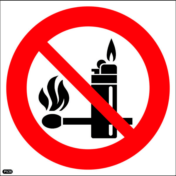 PV26: Lighters & Open Flames Prohibited