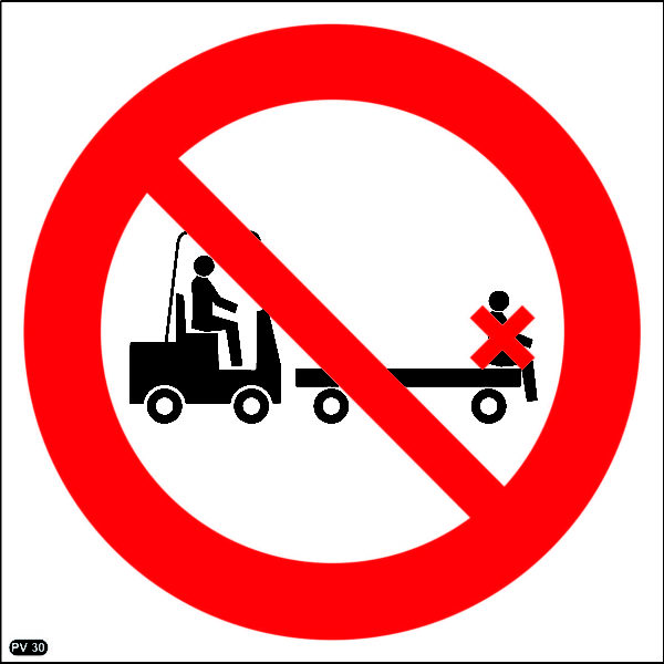 PV30: Lifting On Trolleys Prohibited