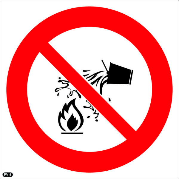 PV4: Water Prohibited (Not Allowed) as Extinguishing Agent