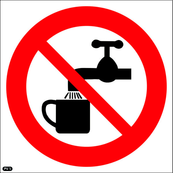 PV5: Drinking Of This Water Prohibited