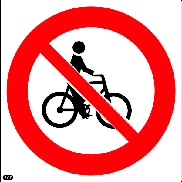 PV7: Cycling Prohibited