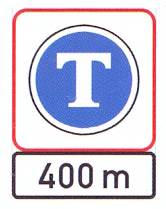 R132+IN11.3: Pay Toll (On High Visibility Background) For A Distance