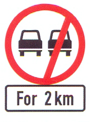 R214+IN11.2: No Overtaking – All Vehicles, For A Distance