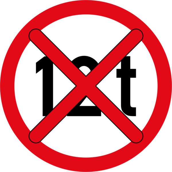 R202-600: End of Mass Limit Sign