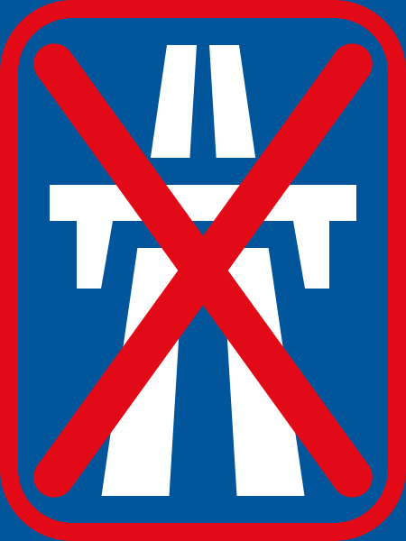 R401-600: Dual-Carriageway Freeway Ends Sign