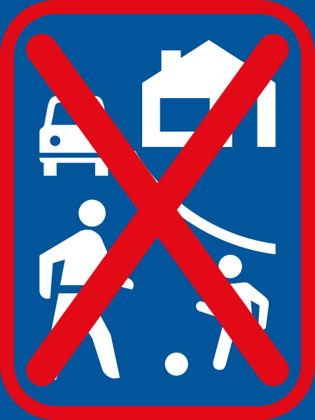 R403-600: Woon Erf Ends Sign