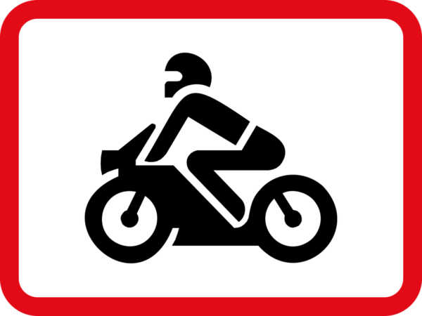 R562: Motor Cycles Sign