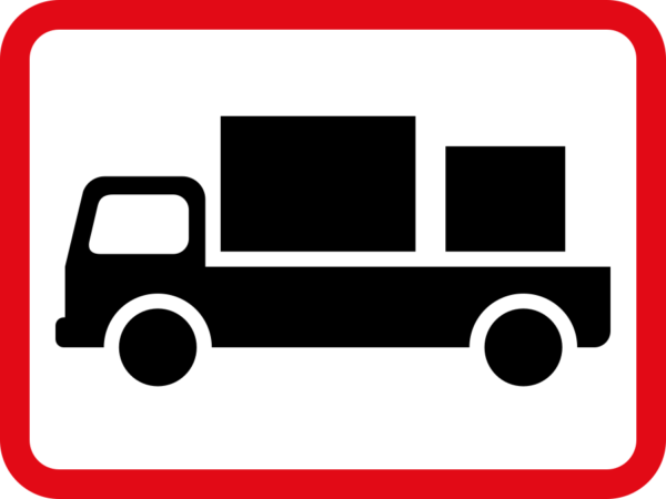 R567: Delivery Vehicle Sign