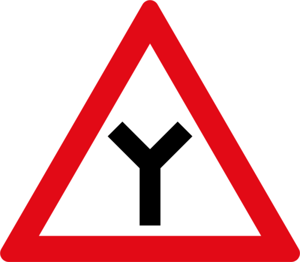 W115: Y-Junction Sign