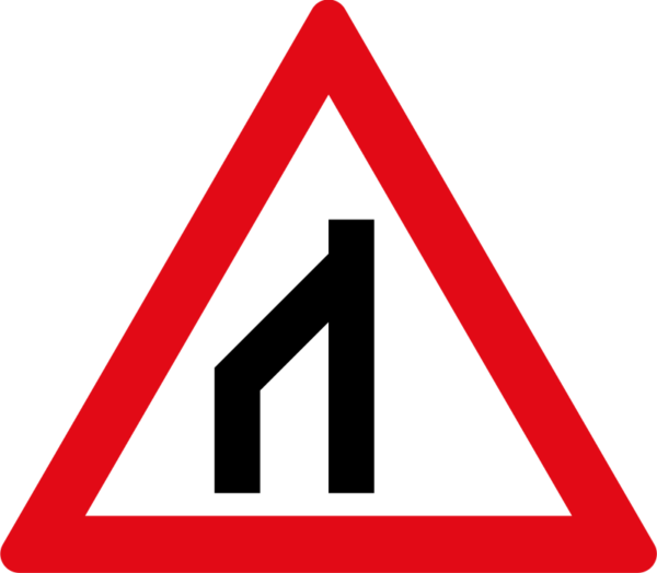 W116: End Of Dual Roadway to Right