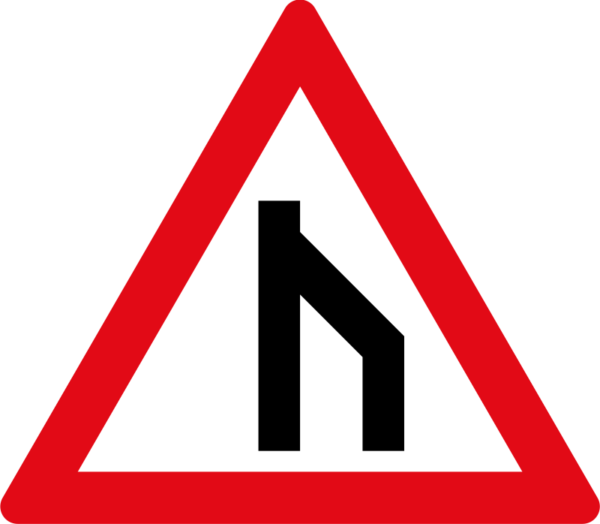 W117: End of Dual Roadway to Left