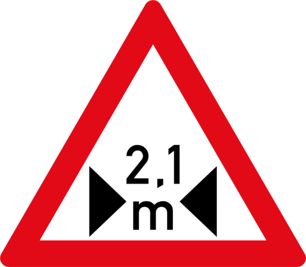 W360: Width Restricted Sign
