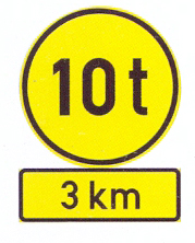 TR102+TIN11.3: Vehicles Exceeding Mass Only A Distance Ahead