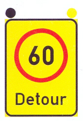 TR201-RB/RE: Speed Limit (On A High Visibility Background) With A Text Message