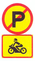 TR216-562: No Parking, Motorcycles