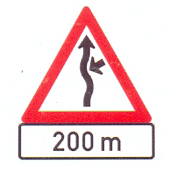 W216+IN11.3: Concealed Driveway (From Right) A Distance Ahead