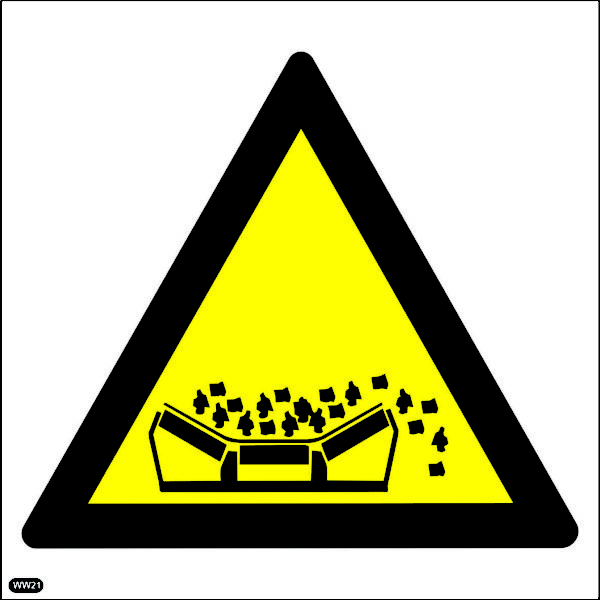 WW21: Beware Of Material Falling From Moving Conveyer Belts