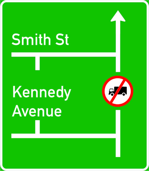 GD9: Map-Type Advance Direction Recommended Route